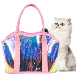 Láser de Color personalizado de la moda de PVC resistente al agua Puppy Kitty Ourtdoor Bolso Bolso de Pet