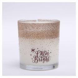 Творческие соевый воск ароматические свечи с содержанием ароматических золотого порошка со стеклянным кувшином для дома в стиле Арт Деко