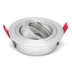 Supporto alloggiamento faretto per illuminazione a inclinazione circolare GU10 MR16 (LT2300)