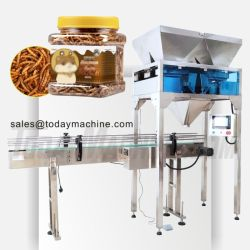 Automatic Granule Packing Gummy and Candy Bottle Packaging Machine Production خطي مع وزن متعدد الرؤوس