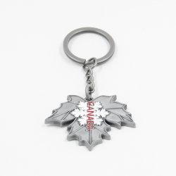 Logotipo personalizado al por mayor moda promocional Metal más barato Soft enamel hojas Llavero llavero