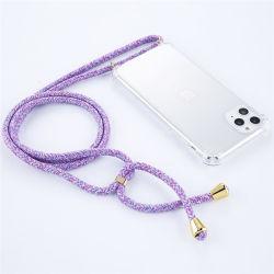 Caso iPhone transparente com tampa flexível de colar iPhone para iPhone 11 PRO Colar móvel caso