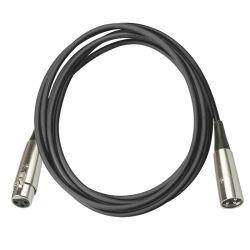 Разъем XLR на женщин и мужчин и соединительный кабель из ПВХ звука микрофона