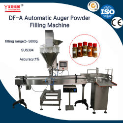 Df-une bouteille de la Chine prix d'usine fichier Jar peut d'épices de protéines de lait en poudre de café Machine de remplissage automatique avec le convoyeur et le convoyeur à vis
