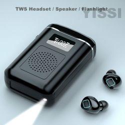 TWS Twins Wireless Earbuds BT V5,0 Kopfhörer Super große Ladung Kapazität des Fachs 3000mAh Headset mit Lautsprecher und LED-Powerbank