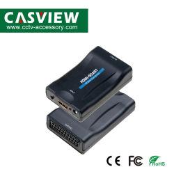 HDMI al convertitore di Scart che convertirà il video di Digitahi HDMI e l'audio segnale in video segnale composito e segnale stereo franco/di Florida in audio