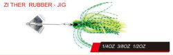 La pesca artificial de color personalizado Spinner Bait Cítara Plantilla Goma Buzz Bait