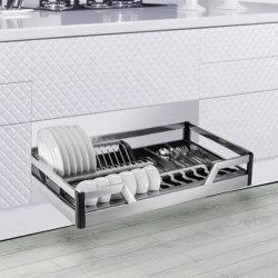 Armazenamento de cozinha e Base Multifuncional de gabinete Inox fecho suave 4 Fogão Lateral Cesto gaveta (H1RS007Q)