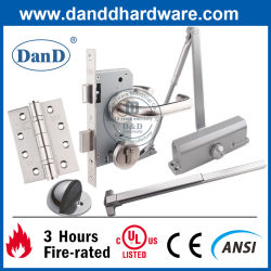 أثاث الباب مصنف للحريق من الفولاذ المقاوم للصدأ 304 UL CE Security الملحقات باب المبنى الأجهزة التجهيزات التجارية قفل الباب المفصلة الخشب أجهزة الباب