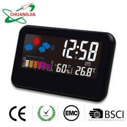 Thermomètre Hygromètre intérieure de la jauge pour le ménage avec réveil Digtial