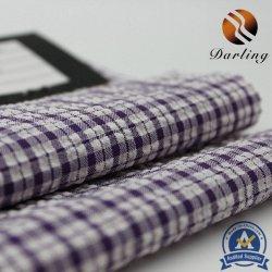 100d de Alta esticar os fios de poliéster tecido Plaid para roupa