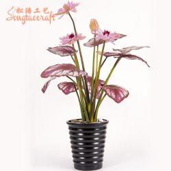 Nouveau design de gros de Guangzhou Décoration artificielle Plante en pot Fake fleur pour mariage