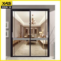 Insonorizadas puerta corrediza de aluminio con cristal templado de cocina