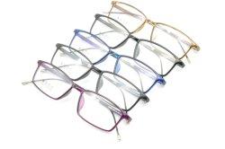 De fabriek verkoopt de Lichte Halve Plastic Frames van Eyewear van de Oogglazen van het Ontwerp van de Manier van het Staal Nieuwe Optische