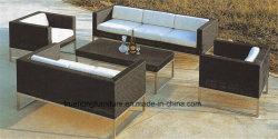 Hotel refeições ao ar livre apresenta mobiliário de exterior de vime PVC mobiliário alongamento exterior resistente a UV mobiliário mobiliário casual ao ar livre