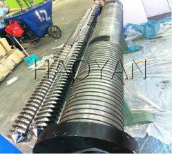 112mm SKD61 Parallel Twin Canhão de parafuso para extrusão de folha WPC/para tubo de PVC/Perfil Coxim Extrusor