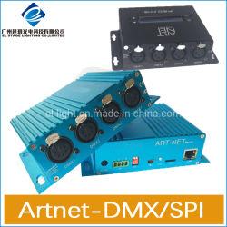 4 ArtnetからのDMX /Spiのシグナルへの方法DMXディバイダーのコントローラまたは照明コンソールBidirection伝達
