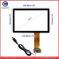 Multitáctil de 10,1 pulgadas con pantalla táctil Pcap Kit con la tarjeta controladora y cable USB CT-C1096