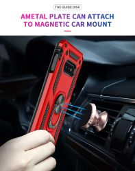 Carro Titular do magneto 360 Grau Anel Rotativo 2NO1 TPU PC Phone Contracapa caso para a Samsung iPhone Huawei Redmi Oppo Vivo