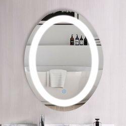 Espejo oval en la pared del espejo con retroiluminación LED regulable Anti-Fog baño espejo de maquillaje con las luces (Horizontal/Vertical)