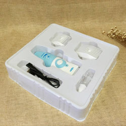 مخصص أيّ [بكب] إلكترونيّة بيضاء بثرة يعبّئ صينية بلاستيكيّة