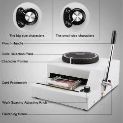 72 caracteres Embosser Manual/Gofragem Máquina/ID/PVC máquina de carimbar cartões de crédito impressora de código