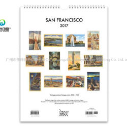 2019 Impressão personalizada de moda do calendário de parede em relevo