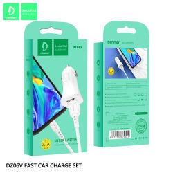 Dz06t 3.1A fasten die Doppel-USB-Auto-Feuerzeug-Aufladeeinheit, die mit androidem Huawei Typen c-Kabel eingestellt wird