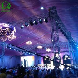 Grande fête de mariage de luxe en PVC transparent tente peut également être utilisé comme un événement tente
