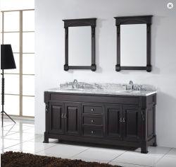 Bacia Duplo Preto moderno Mirror Venda de banho quente vaidade (SCA1-W059)