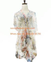 BSCI Multi-Wear Mujer Cardigan Chiffon Mantón de desgaste de verano en la playa