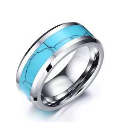 Anelli unisex dell'acciaio inossidabile del turchese di vendita calda Handmade chirurgica dell'anello