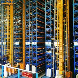 高密度倉庫の棚付けラック(AS/RS)が付いている自動記憶ラック