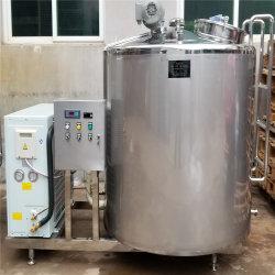 Frigorífico de acero inoxidable tanque de leche del tanque de refrigeración de leche directo horizontal de refrigeración de leche del tanque de procesamiento de lácteos