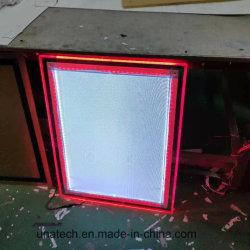 거는 아크릴 결정 LED 호리호리한 실내 매체 광고 가벼운 상자