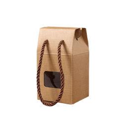 クラフト紙は-ボードの蜂蜜包装ボックス袋によって型抜きされたWindowsを波形を付けた