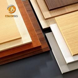 Mélamine MDF personnalisés en bois de placage de bois micro perforé rainuré panneau microporeux