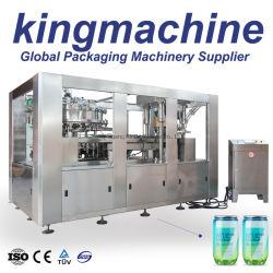 Automatische Pop Easy Open Aluminium Pet Dose Trinken Soda Non Zucker Aromatisiertes Wasser Abfüllung Füllstoff Versiegelung Verschließen Einkantung Verpackung Produktionslinie