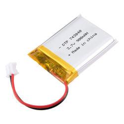 Hot Sale ultra mince DTP743040 3,7 V 900mAh Batterie au lithium