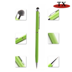 Commerce de gros bon marché bannière publicitaire personnalisé stylo à bille d'écran tactile avec Multi-Color stylo à bille rétractable cadeau en douceur à la promotion