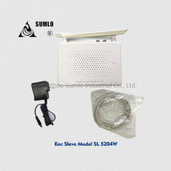 Ethernet através de cabo coaxial do modem a cabo, WiFi Eoc Slave 4 portas LAN, 1 saída de RF para CATV, HFC