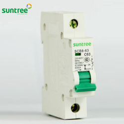 Scb8 AC Mini Monopolar MCB Precio en China 20 AMP disyuntor de corriente baja