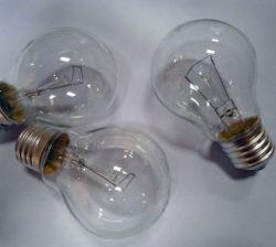 مصابيح متوهجة A60 مضيئة زجاج شفاف 40 واط 110-130V CE RoHS