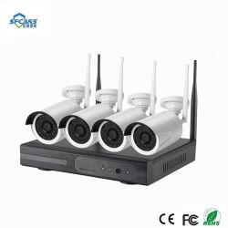 HD drahtlose NVR Installationssatz 4CH CCTV-System 1080P P2p IP-Kamera wasserdichte IR-Nachtsicht-Ausgangskamera-Überwachung HDD