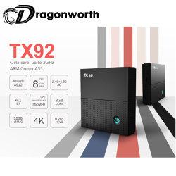 Gafas de vídeo 1080p Tx92 S912 3G 32g Android 7.1 de vídeo HD TV Box Amlogic S912 el Firmware 7.1 de Android TV Box