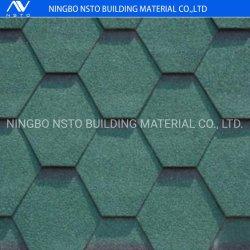 Fácil de instalar el techo de coloridos mosaicos de guijarros de asfalto