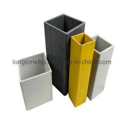 GRP compuesto de fibra de vidrio de FRP Glassfiber Pultruded tubo cuadrado