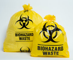 Zak van het Afval van de Besmetting van Biohazard van de Verwijdering van de Grootte van de Agent van de Fabrikant van China de Grote Gele Plastic voor de Medische Verpakking van het Afval