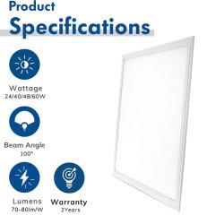 Edglite LED de luz do painel 36W 600*600mm Ultra-Thin moldura em alumínio com acabamentos em branco a luz do painel com certificado CE para sala de reuniões e sala de exposições