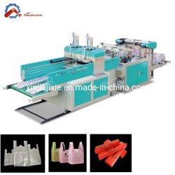 고속 쇼핑 캐리 티셔츠 백 PE LDPE HDPE 폴리텐 생분해성 플라스틱 빅백 절단 백 기계 제작 공장 가격(400 * 2)